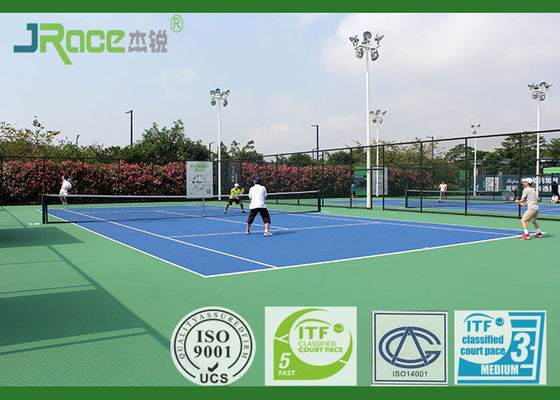ITF Certificated Acrylic Sports Flooring 29 % Rebound Value , Closed Surfaces