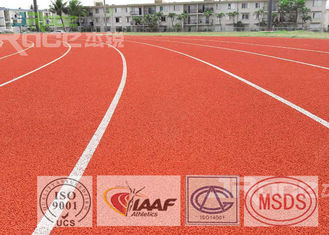 Synthetic Rubber SPU Track and Field Flooring UV Resistance For Tartan Track