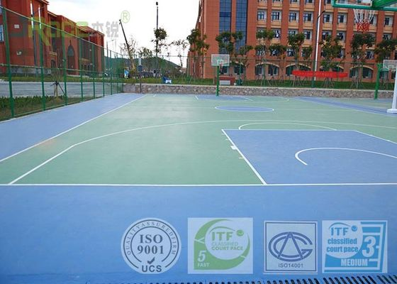 Long Lasting Sport Court Surface , Playground Rubber Flooring Aging Resistance