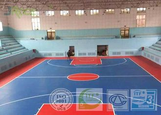 Silicon PU Synthetic Sports Surfaces , Playground Rubber Flooring Outside Construction