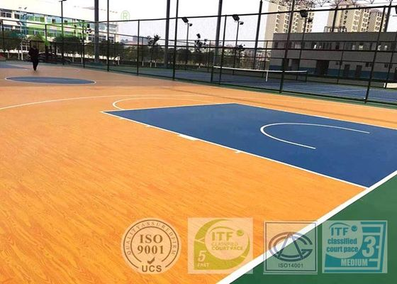 Green Grass Silicon PU Outdoor Sports Field Surface Excellent Slip Resistance