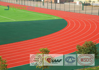 UV Resistant Outdoor Sports Field Surface , 8 Lanes 400 Meter Running Track