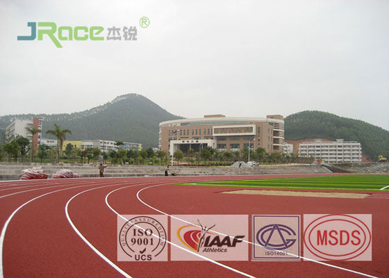 Sandwich System Synthetic Jogging Track Flooring Anti Static For Exterior Sports