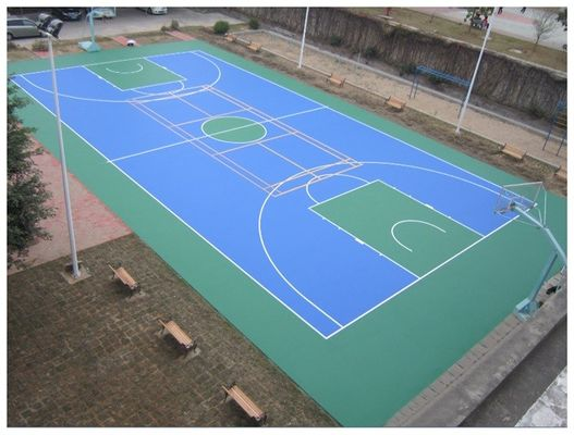 Customize Size Available Tennis Court Surface With Synthetic Silicon Material