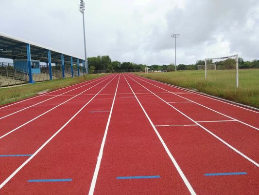 Multipurpose 15mm Thickness Polyurethane Athletic Track Surfaces Spike Resistant