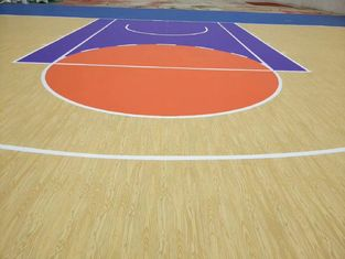 Innovative Single Component Stadium Sport Court Flooring With Maple Surface