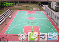 Multi Use Outdoor Rubber Basketball Flooring , Backyard Basketball Court