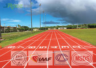 Eco Friendly Rubber Athletic Track Corrosion Resistance , Strong Adhesion