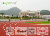 Preformed Running Track Flooring , Outdoor Rubber Flooring For College