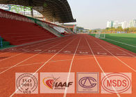 Elastic Outdoor Rubber Flooring Spray Coat Rubber Running Track With IAAF