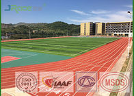China Preformed Running Track Flooring , Outdoor Rubber Flooring For College factory