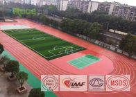Outdoor Running Track Flooring Anti Oxidation With Concrete Base / Asphalt Base