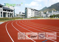 Economical Jogging Track Flooring , Ventilative Olympic Track Surface Material