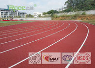 Colorful EPDM Rubber Running Track Surface , Outdoor Running Track Flooring