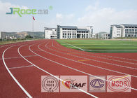 8 Lanes Jogging Track Flooring , IAAF Approved Track Surfaces Outside Resistance To Wear