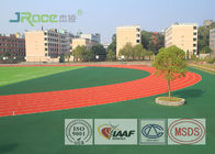 Resilient Track And Field Surface Material , Outdoor Running Track Surface