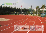 Full Pour Running Track Flooring , Prefabricated Rubber Athletic Track Anti UV
