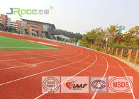 Professional Polyurethane Track Surface Colorful , Recycled Rubber Granules