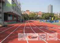 China 13mm All Weather Running Track Flooring For College School Rubber Surface factory