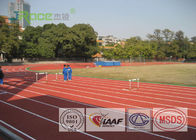 Red Synthetic Jogging Track Surface , All Weather Track Material 36.0 % Force Reduction