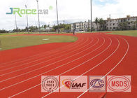 All Weather Track And Field Material , Recycled Rubber Flooring Spike Resistant