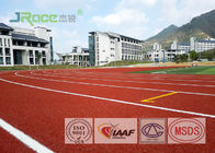 China Polyurethane Resin Olympic Running Track , Tartan Track And Field Anti Cracking factory