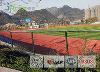 All Weather Rubberized Track Surface , Tartan Running Track For Outdoor Sport Field