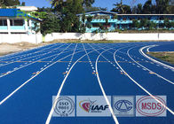 Spray Coating Rubber Running Track Material , Blue Athletics Track For Formal Competition