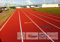 Shock Absorption Athletics Running Track Flooring , Track And Field Surface