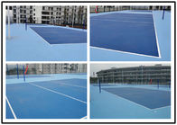 Multi - Layer Silicone Material Basketball Court Flooring / Outdoor Sports Flooring