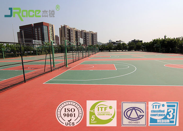 Colorful athletic sport court flooring gym surface for Sport court paint