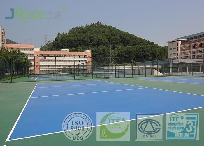 Basketball Badminton Acrylic Sports Surface , Multi Use Sports Court Hard Flooring