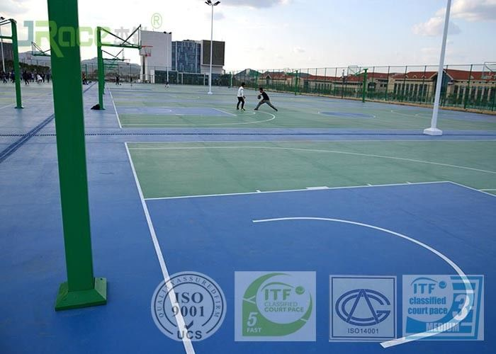 Multifunctional Open Tennis Court Surface Anti Slip Floor Customization Available