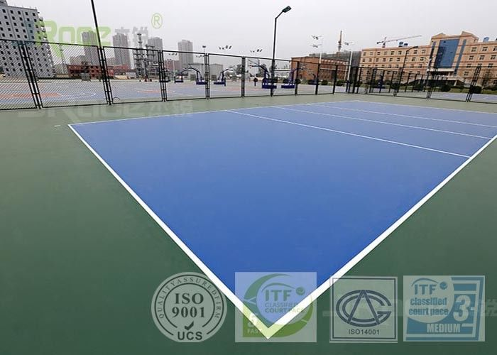 UV Resistance Outdoor Volleyball Court Surfaces Flooring 3-8mm Thickness
