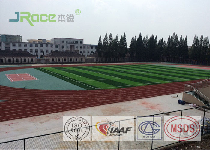 Environmentally - Friendly Polyurethane Track Surface Red Or Customized