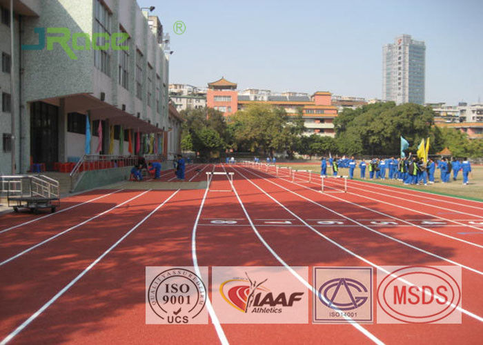 13mm All Weather Running Track Flooring For College School Rubber Surface