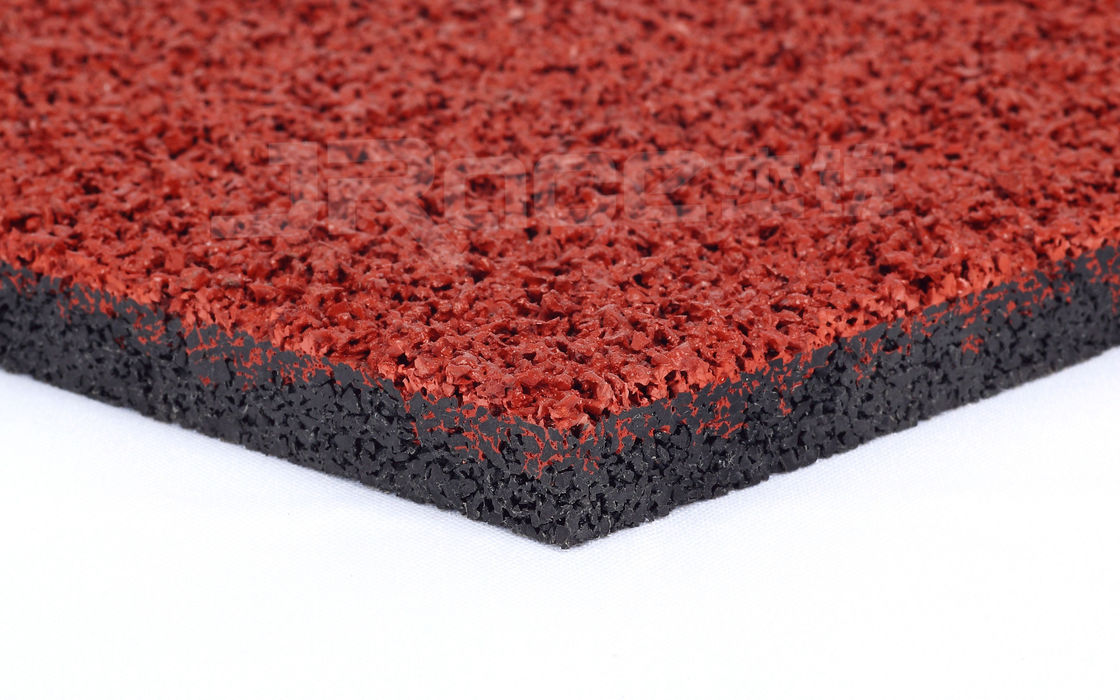 Rubber Running Track Material , Running Track Surface For Sport Stadium Flooring