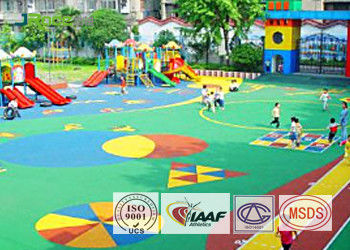 Environmental Seamless EPDM Rubber Flooring Material For Amusement Park