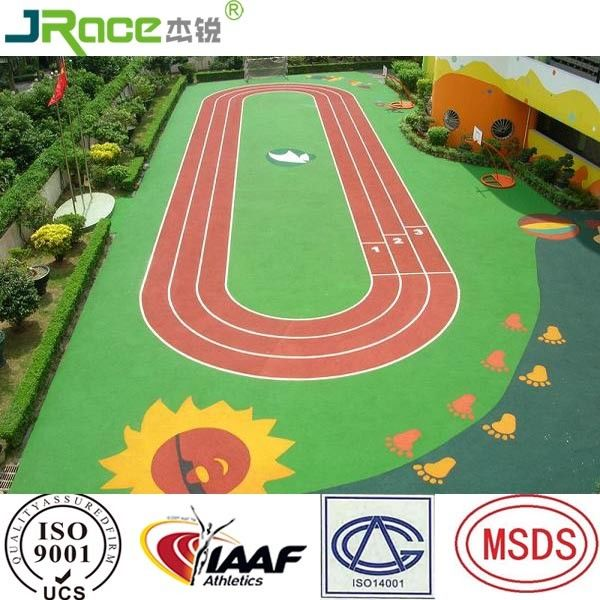 Various Colors Epdm Jogging Track Surface Plastic Racetrack For School