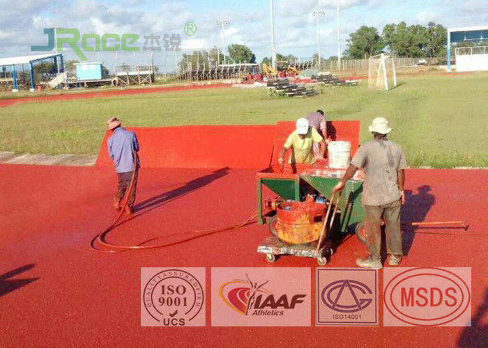 Good Resilient Jogging Track Flooring Running Track Material For Track And Field Athletic Center