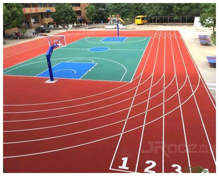 Professional 13mm Thickness Spray Coat Rubber Material Running Track