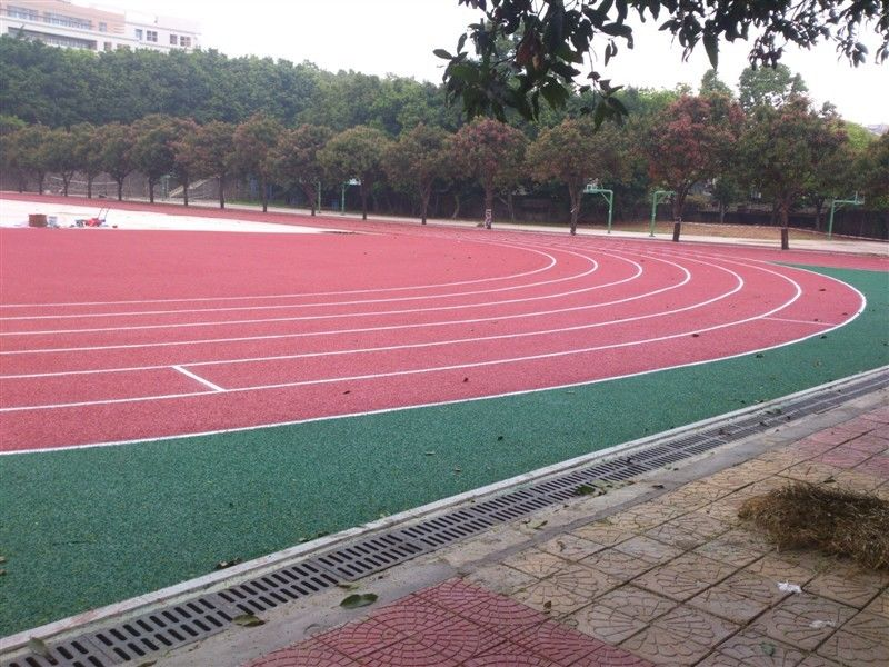 Anti - Shock Polyurethane Rubber Running Track Surface / Jogging Track Material