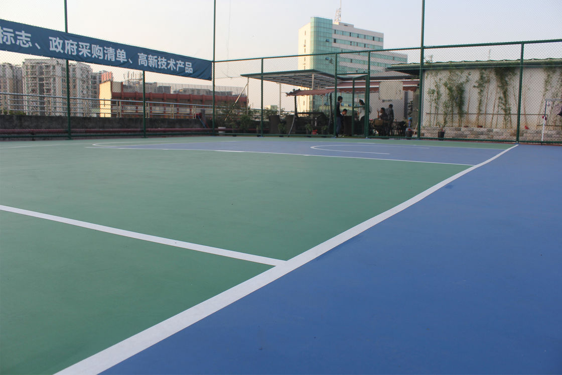 Green Color Outdoor Multi Sport Court For Basketball Games / Badminton