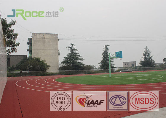 China 400 Meter Standard Polyurethane Track Surface Non Poisonous For Athletics factory