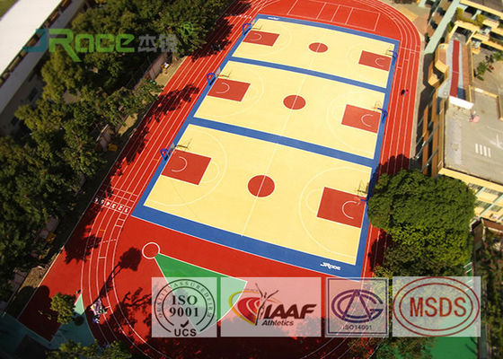 China Colorful EPDM Rubber Running Track Surface , Outdoor Running Track Flooring factory