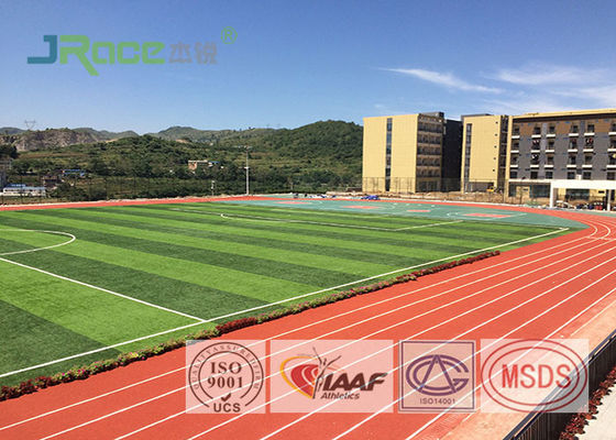 China Resilient Track And Field Surface Material , Outdoor Running Track Surface factory