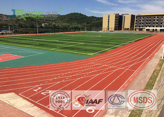 China High School Track And Field Surface , Anti UV Artificial Running Track Flooring factory