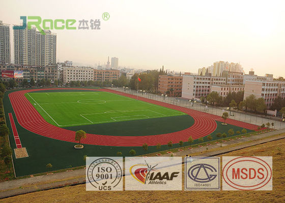 China All Weather Track And Field Material , Recycled Rubber Flooring Spike Resistant factory
