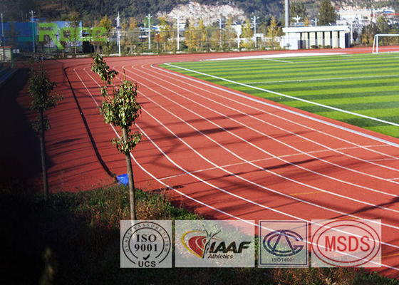 China Outdoor Sport Polyurethane Track Surface , Rubber Track And Field Spike Resistant factory