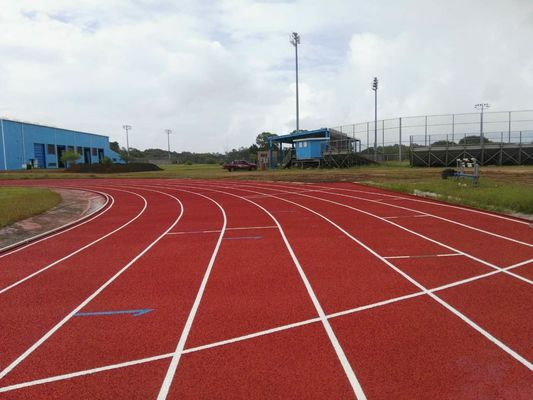 China Durable Red Seamless Polyurethane Track Surface / Synthetic Running Track factory